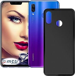 mtb more energy® Custodia Grip per Huawei P Smart Plus - Huawei Nova 3, 3i (6.3'') - Nero (Opaco) - TPU Silicone Case Cover