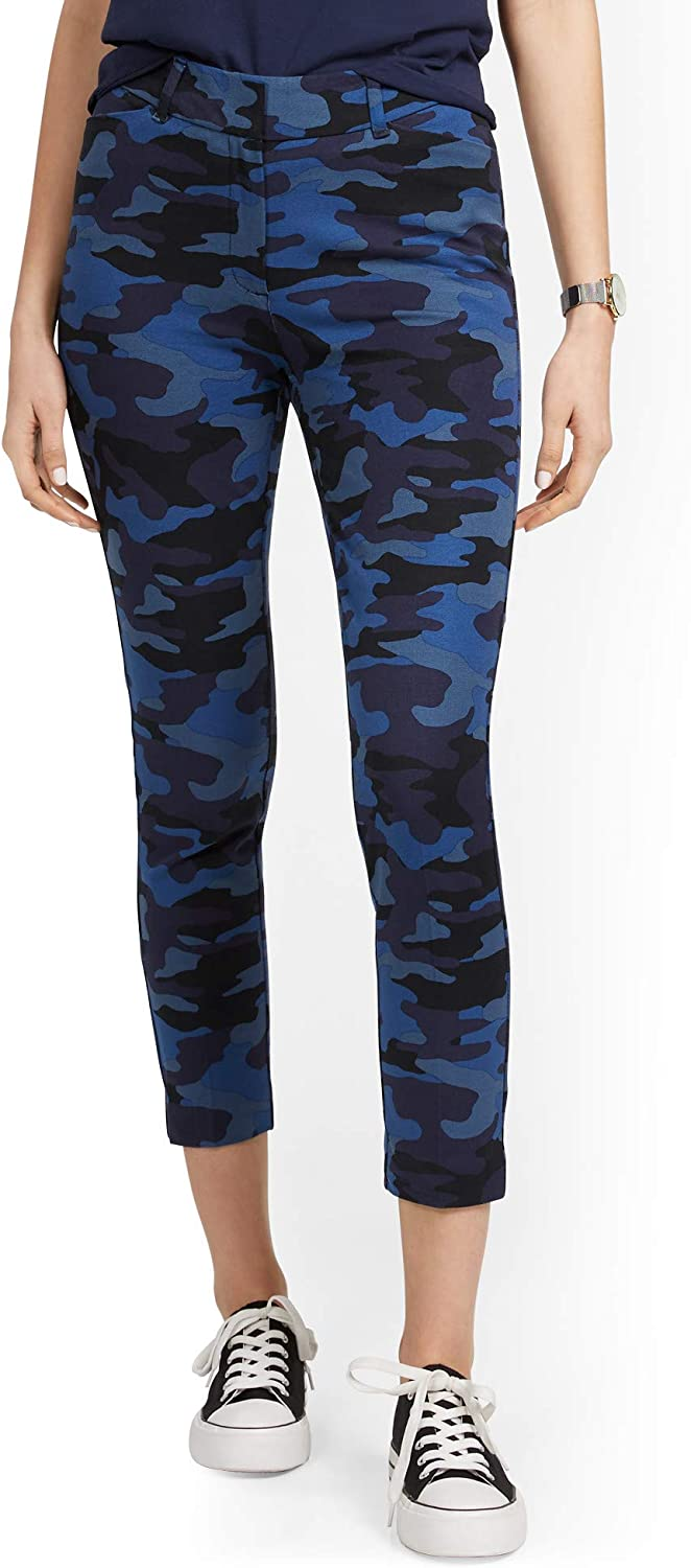 New York & Co. Women's Audrey High-Waisted Ankle Pant - Camo-Print