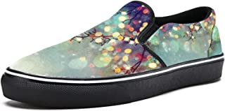 TIZORAX Kerst Sparking Lights Slip op Loafer Schoenen voor Vrouwen Meisje Mode Canvas Platte Boot Schoen