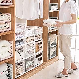 Homieco Tiroir Racks Vêtements 3 Couleurs Organisateur Panier Plateau Stacking Drawers Meubles À La Maison Armoire Diviseu...