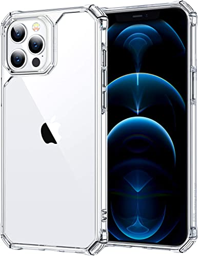 ESR Air Armor Designed Case for iPhone 12 Pro Max 6 7 inch 2020 Back Cover Shock Absorbing Scratch Resistant Military Grade Protection Cover Hard Flexible Polymer Frame Clear