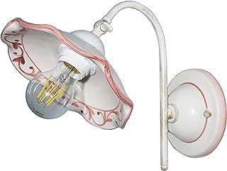 VANNI LAMPADARI - Lampada Da Parete art.001/388 Piatto onda piegato Diametro 20 In Ceramica Decorata A Mano Disponibile In...