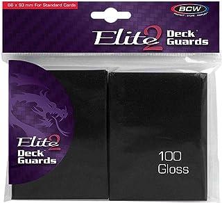 BCW Elite 2 Gloss Card Sleeves – Black (100)
