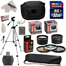 Ultimate Accessory Kit for Canon PowerShot SX50 HS SX50HS Digital Camera Includes 32GB High-Speed SDHC Card + Card Reader + Opteka NB-10L 1800mAh Ultra High Capacity Li-ion Battery Pack + 67MM 0.43x HD2 Wide Angle Panoramic Macro Fisheye Lens + 67MM 2.2x HD2 AF Telephoto Lens + 67MM Adapter Ring + Deluxe Padded Carrying Case + Professional 54