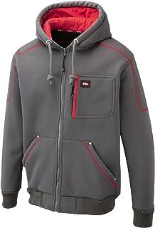 New Mens Lee Cooper Hooded Jacket Bonded Fleece Sherpa Lined Thermal Hoodie Kangaroo Pockets Full Zip Comfortable Warm Fun...