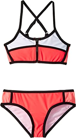 Seafolly Kids - Sapphire Coast Color Block Tankini Set (Big Kids)