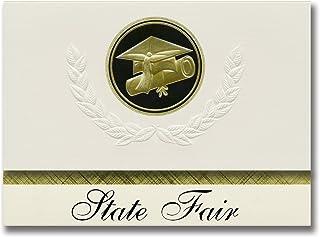 Signature Announcements State Fair (Sedalia, MO) Graduation Announcements, Presidential style, Elite package of 25 Cap & D...