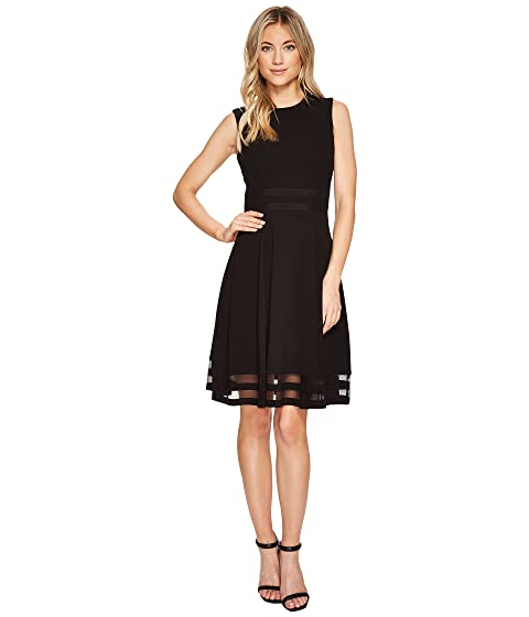 3bc0012f308 Calvin Klein Illusion Hem   Waist Detail Fit   Flare Dress CD7C112C ...