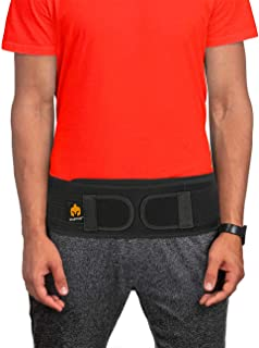 Sacroiliac Si Hip Belt by Sparthos - Immediate Relief for Sciatic, Pelvic, Lower Back and Leg Pain - Hip Joint Support for Women and Men - for Sacral Nerve, Waist, Pregnancy (Black-REG)