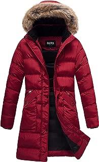 ELORA Heavy Women's Mid-Length Winter Maxi Pufffer Coat Cargo Pocket Water Resistance Parka