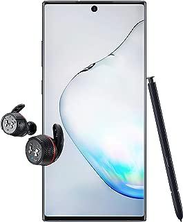 Samsung Galaxy Note 10+ Single SIM - 256GB, 12GB RAM, 5G, Aura Black + JBR Under Armour True Wireless Flash Earphone