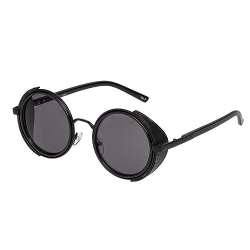 Steampunk Sunglasses Goggles Retro Women Men Round Cyber Circle Glasses UV400