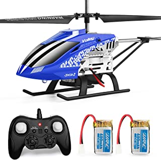 Helicopter with Remoter Control,JJRC 3.5CH Rc Helicopter Altitude Hold Helicopter with 2 Batteries for Kids,Gryo 2.4GHz LE...