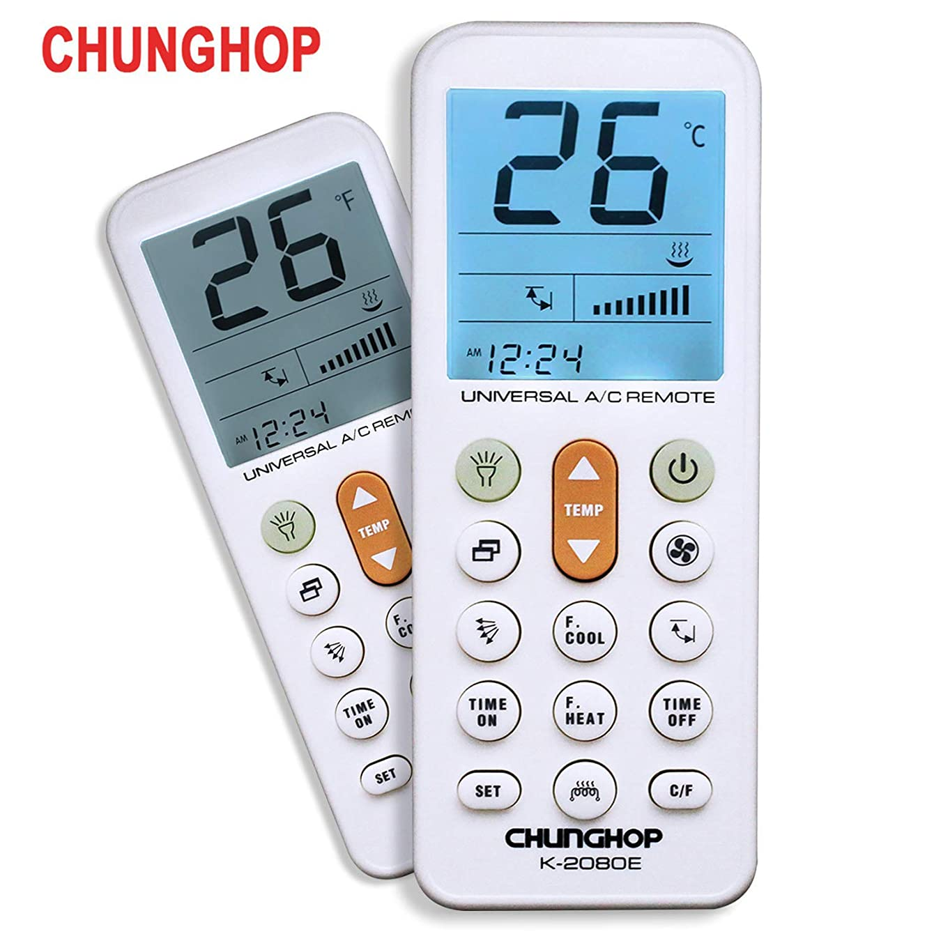 CHUNGHOP Universal Air Conditioner Remote Control for Daikin, Hitachi, Mitsubishi, Carrier, Panasonic, LG, Sharp, Haier, Gree, Midea, Whirlpool, Bosch, Olympus, Toshiba, Samsung and 1000 More Brands