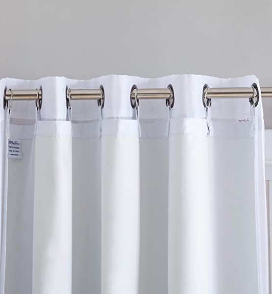 HLC ME White Thermal Insulated 100 Blackout Curtain Liner 84 Inch Grommet Panel Complete Darkness Privacy Energy Efficient Noise Reducing 8 Rings Included 1 Panel 50 W X 80 Inch