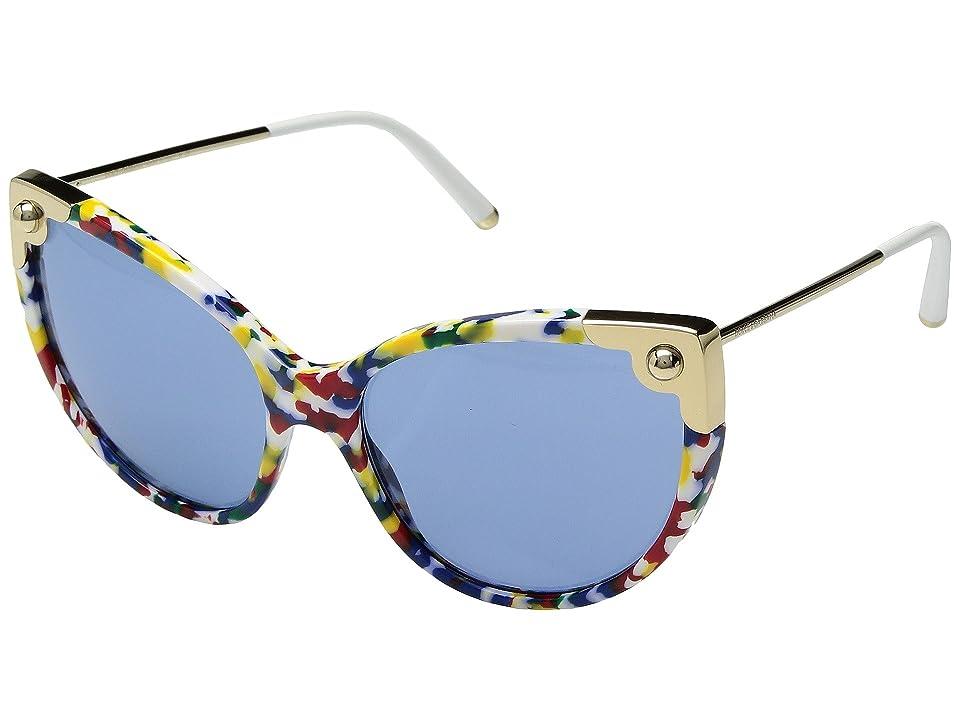 Dolce & Gabbana 0DG4337 (Multicolor Cube/Pale Gold/Light Blue) Fashion Sunglasses