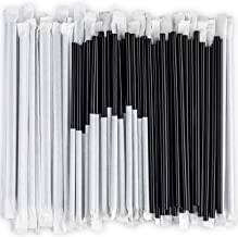 Disposable Plastic Drinking Straws, 24 cm long Individually Wrapped (Black, 250 Pieces)