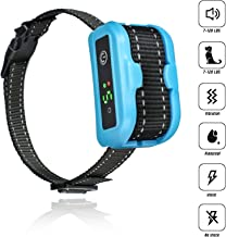 [Newest 2019] Anti Bark Collar for Small, Medium, Large Dogs-5 Adjustable Sensitivity and Intensity Levels-Dual Anti-Barking Modes-Rechargeable/Rainproof/Reflective-No Barking Dog shock collar