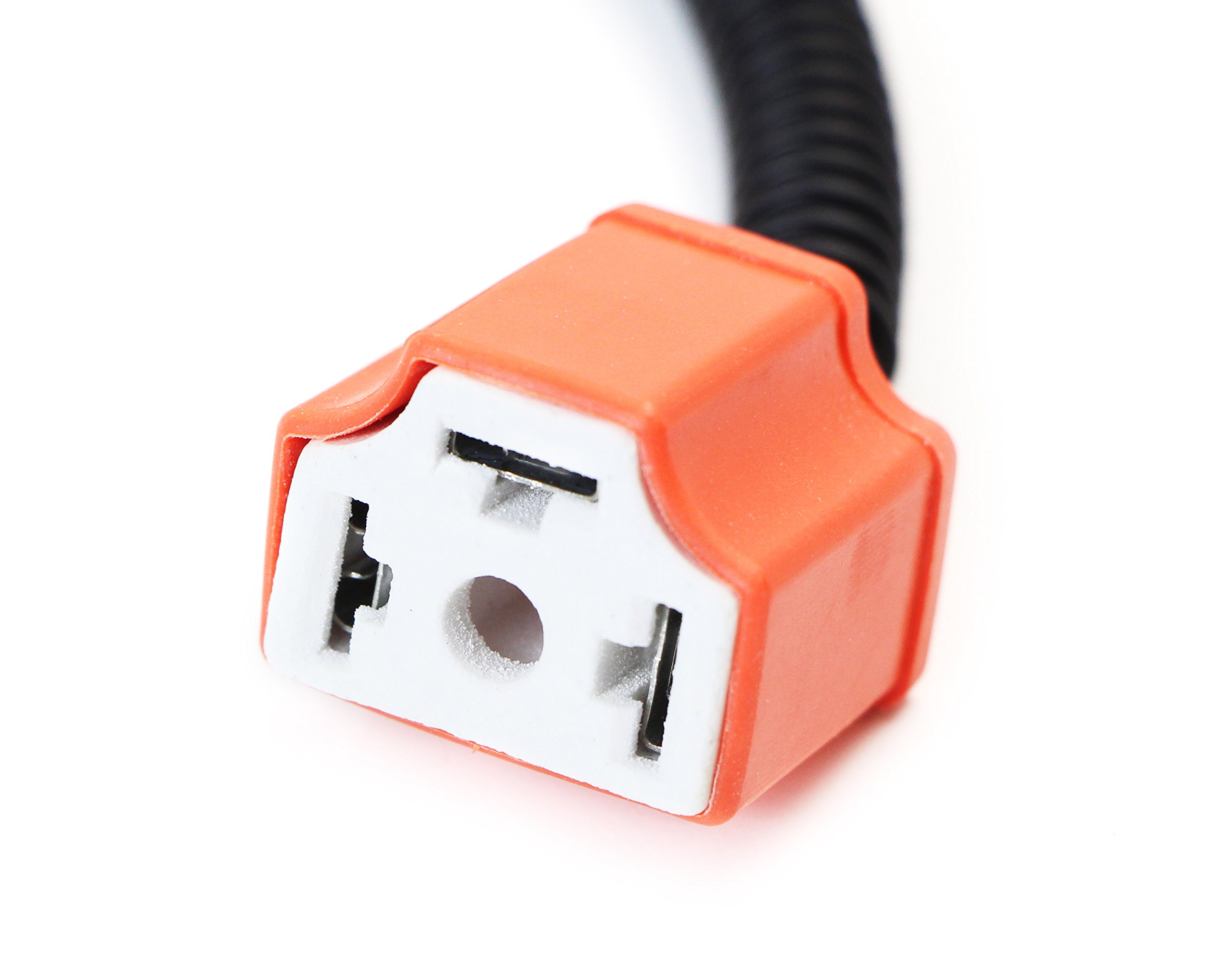 iJDMTOY H4 9003 Heavy Duty Ceramic Wiring Harness Sockets Compatible With Headlights or Fog Lights