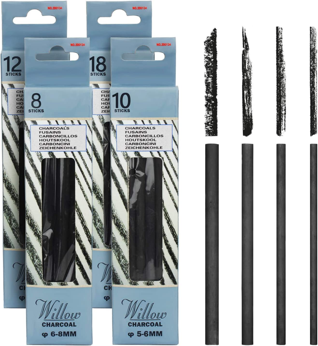 MyLifeUNIT Vine Charcoal Sticks 4 Pack Quality inspection NEW before selling ☆ Pencils Willow