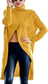 GIKING Women's Casual Plus Size Long Sleeve Chic Loose Knit Turtleneck Pullover Sweater