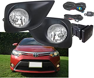 Brand New Replacement for 2014-2016 Toyota Vios Car Styling 12V 19W Front DRL Daytime Fog Daylight Running Lamps Day Light Assembly with Wire Harness