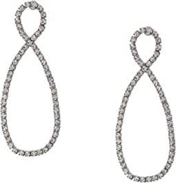 Infinity Twist Facet Stone Earrings