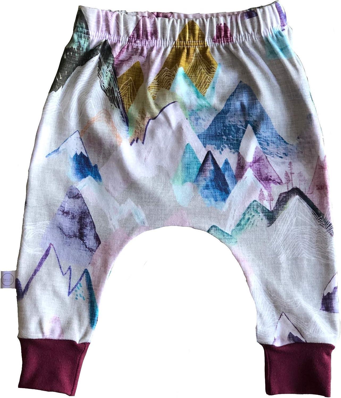Hau'oli Apparel GOTS Certified Organic Cotton Printed Harem Pant for Baby Girl