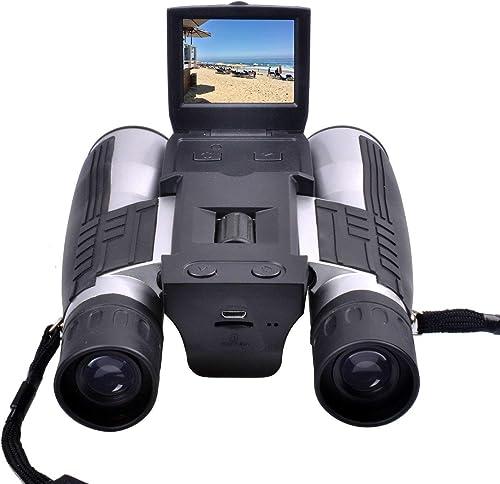 Haute définition Multi-Fonction De Plein air Télescope 720p Numérique Caméra Jumelles Caméra avec 2 LCD écran pour en Train de Regarder Oiseau, Football Jeu