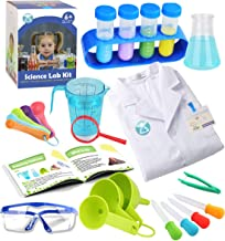 Kids Science Experiment Kit with Lab Coat Scientist Costume Dress Up and Role Play Toys Gift for Boys Girls Kids Age 5-11 ...