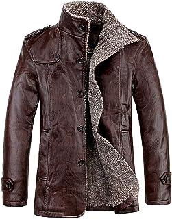 Men Fleece Lined Jacket Warm Sherpa Winter Botton Down Borg Collar Coat with Fur Fashion Denim Trucker Outwear