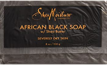 SheaMoisture Bar For Troubled Skin African Black Soap With Shea Butter 8 oz