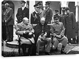 artprints1stop Canvas Print Wall Art - Classic WW II Vintage Photo Yalta Conference, 1945 (Churchill, Roosevelt and Stalin...