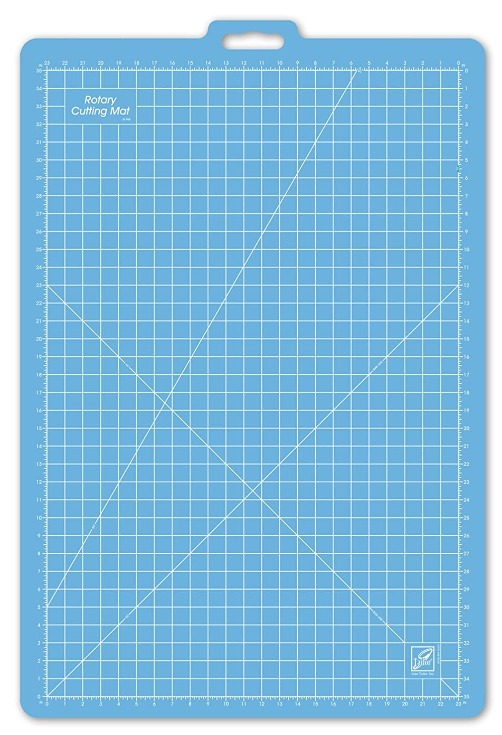 June Tailor 26-Inch-by-39-Inch Gridded with 23-Inch-by-35-Inch GridRotary Mat With Handle