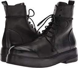 Zuccolona Smooth Leather Combat Boot