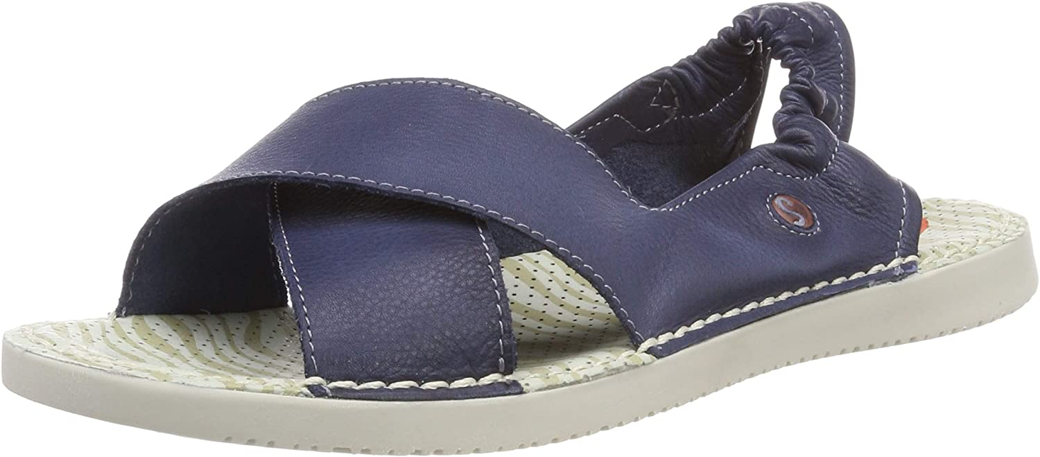 Softinos TIU501SOF Washed Leather Womens shoes Navy UK6 EU39 US8 8.5
