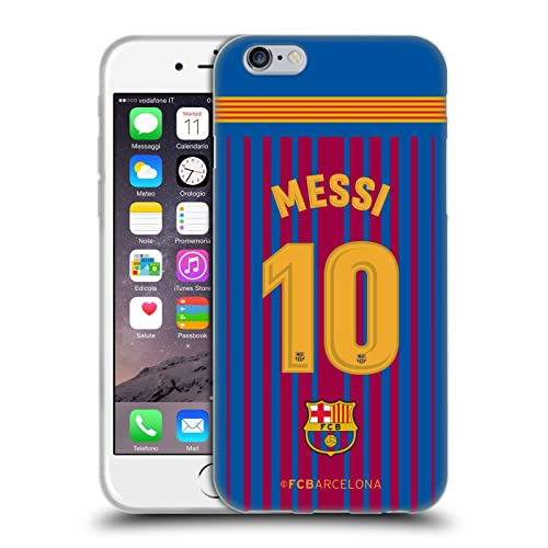 f1794b3c308 Official FC Barcelona Messi 2017 18 Players Home Kit Group 1 Soft Gel Case  for