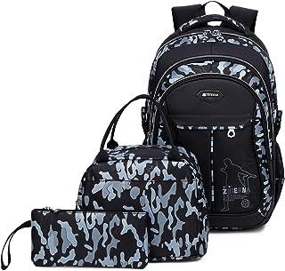 Backpack for Boys School Bag Kids Bookbag with Lunch Bag
