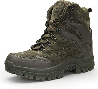 comprar comparacion AONEGOLD Hombres Botas de Senderismo Zapatos de Trekking Botas Tácticas Transpirables Militar Senderismo Zapatos Botas de ...