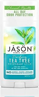 JASON Purifying Tea Tree Deoderant Stick, 2.5 Ounce Tubes (Pack of 3)