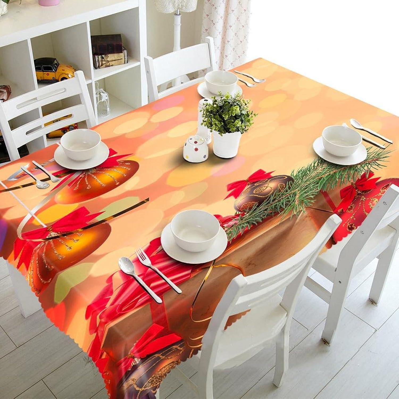 HUANZI YU Tablecloth 3D Festive atmosphere Digital printing Dustproof Tasteless Rectangular, rectangular width 178cmx long 274cm