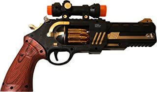 LilPals Shoot Em' Up Wild West Toy Gun - Featuring Flashing LED Lights Playful Sounds - Keeps Kids Active