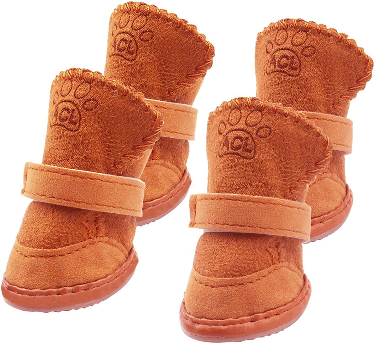 Luckkyme Dog Boots Durable Paw Predectors AntiSlip Dog shoes for Small and Medium Dogs (04)