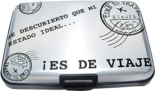 NIGHTMARE STYLE Tarjetero con función Bloqueo RFID y NFC (GrisPlata). Porta-Tarjetas Hombre o Mujer.Pasaporte Seguro.Equip...