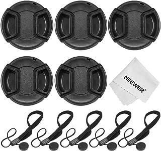 Neewer 52mm kit de tapa de lente de cámara para Nikon D3300D3200D3100D3000D5300D5200D5100D5000D7000D7100DSLR Cámaras Kit incluye: (5) 52mm Centro Pinch tapa de lente + (5) Cap Keeper Correa