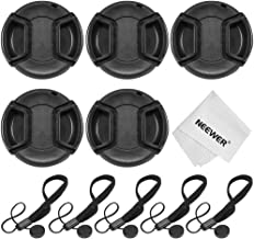 Neewer 52MM Camera Lens Cap Kit for NIKON D3300 D3200 D3100 D3000 D5300 D5200 D5100 DSLR Cameras: (5)52mm Center Pinch Lens Caps+(5)Cap Keeper Leashes+(1)Microfiber Cleaning Cloth