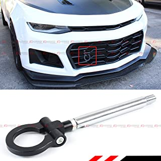 MG Pro-industry Front /& Rear Bumper Screw on Sports Camaro Track Racing Heavy Duty Tow Hook for 2017-18 6th Gen Chevy Black