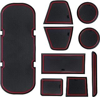 Sporthfish Non-Slip Anti-dust Custom Fit Cup, Door, Console Liner Accessories for BRZ 86 FR-S 2019 2018 2017 2016 2015 2014 2013 Subaru Toyota Scion -9 pcs Set (Red)