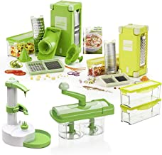 Genius Nicer Dicer Magic Cube incl. Nicer Twist/38 Parts/Slicing/Grating/Julienne/Spirals/Slicing/Dicing | Fruit & Vegetable | as seen on TV | New