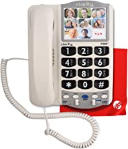 Clarity P300 Picture ID Mild Hearing Loss Amplified Corded Phone with Circuit City Microfiber Cleaning Cloth
